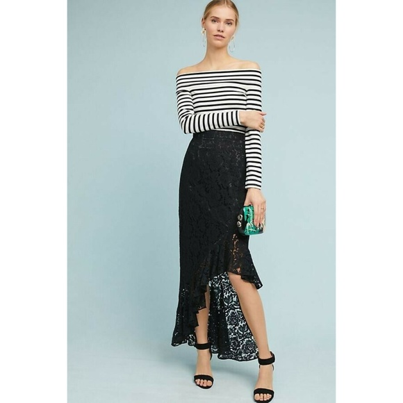Anthropologie Dresses & Skirts - New Anthropologie Showstopper Lace Skirt by Eliza